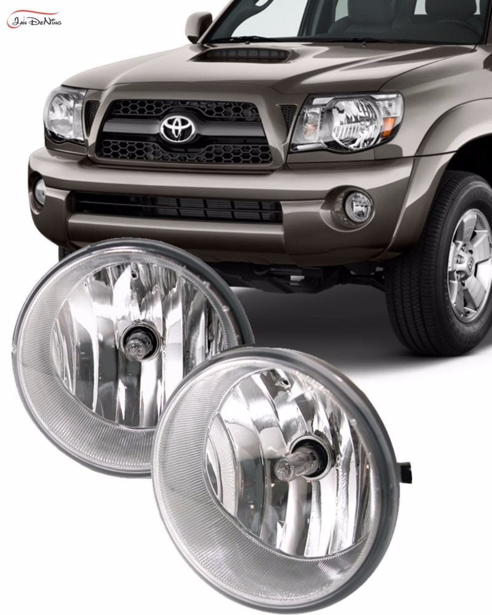 JanDeNing Car Fog Lights For 2005-2011 Toyota Tacoma Front Fog light Lamp (one Pair) for opel astra h gtc 2005 15 h11 wiring harness sockets wire connector switch 2 fog lights drl front bumper 5d lens led lamp