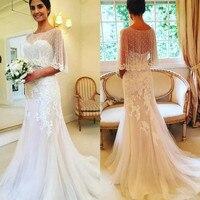 Mermaid Wedding Dress 2019 With Wrap Vintage Lace Wedding Gowns robe de mariee Bride Dress mariage reception vestido de noiva