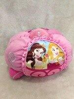 Lovely Crystal PINK Pumpkin car Cinderella Plush Doll Kneeling Stuffed Soft Kids Toys Dolls 35cm