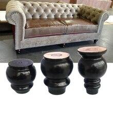 4pcs עץ ספה רגליים 8/10/12cm שחור מוצק עץ סיים החלפת ריהוט רגליים ישים ספה מיטת ארון שולחן איפור