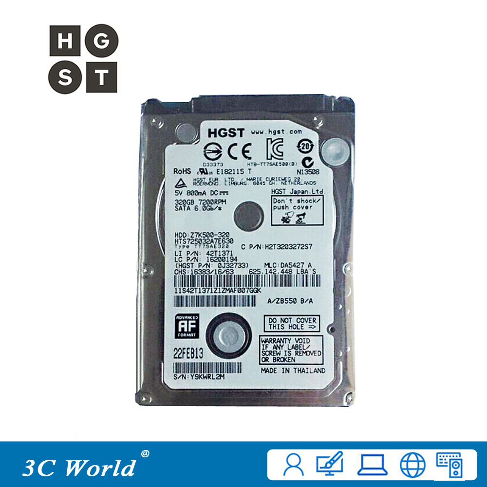 Original Hgst Hard Drive 320gb Hdd 7200rpm 32mb Cache 7mm Sata Ii 320 Gb Wd Blue 35 25 Laptop In Internal Drives From Computer Office On
