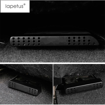 Lapetus Accessories Fit For Toyota Rav4 Rav 4 2014 - 2018 Seat Under Air Condition AC Outlet Vent Protector Molding Cover Kit image