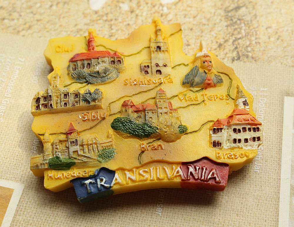 Romania Transilvania Tourist Travel Souvenir 3D Resin Fridge Magnet Craft GIFT