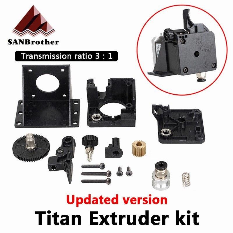 Pièces d'imprimante 3D extrudeuse Titan entièrement Kits pour V6 j-head Bowden support de montage 1.75mm Filament E3D V6 Hotend 3:1 Ratio