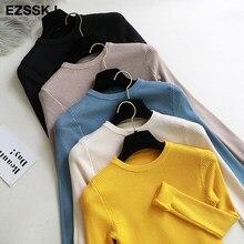 Suéteres de punto para mujer, ropa básica de otoño, primavera, barato, manga larga