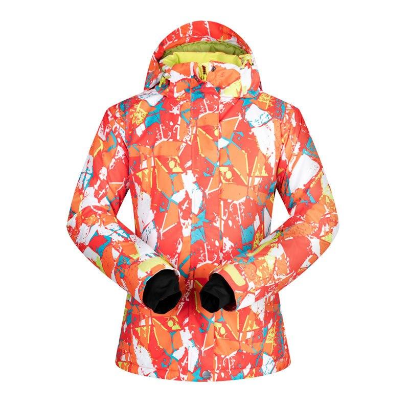 -35 degrés femmes veste de Ski Snowboard vêtements Sports de plein air Treking coupe-vent imperméable porter des vêtements d'hiver femme manteau de Ski - 3