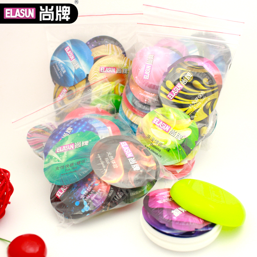 Buy Super thin 24pcs/bag Senior Latex Elasun Colorful Condoms, Random delivery,Offer Safe Best Sex Product Fast Delivery