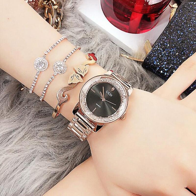 Luxury Crystal Dial Qaurtz Ladies Watch Fashion Lovers Watches Creative Women Bracelet  Relogio Feminino Dropshipping