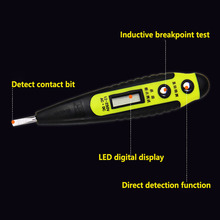 Home Multi-function Line Test Electroscope High-precision Non-contact LED Digital Display Pencil