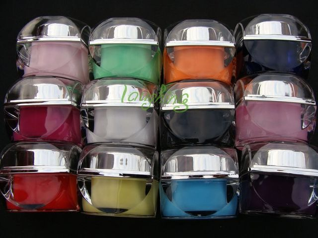 5set/lot uv gel 12 color  nail are Solid  colored uv gel nail polish sets  builders colored uv gel #5