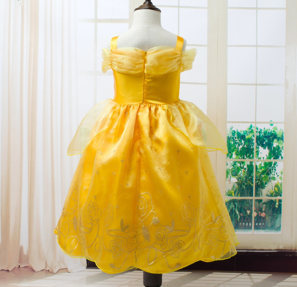 Toddler-Girls-Summer-Belle-Dresses-Princess-Costume-Party-Clothing-Beauty-and-the-Beast-Yellow-Dress-Sleeveless-Clothes-1
