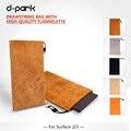 """Бесплатная доставка d-парк натуральная кожа microsoft surface pro 4/3 ноутбук сумка для ноутбука 12 """"/10.6"""" дюймовый"""