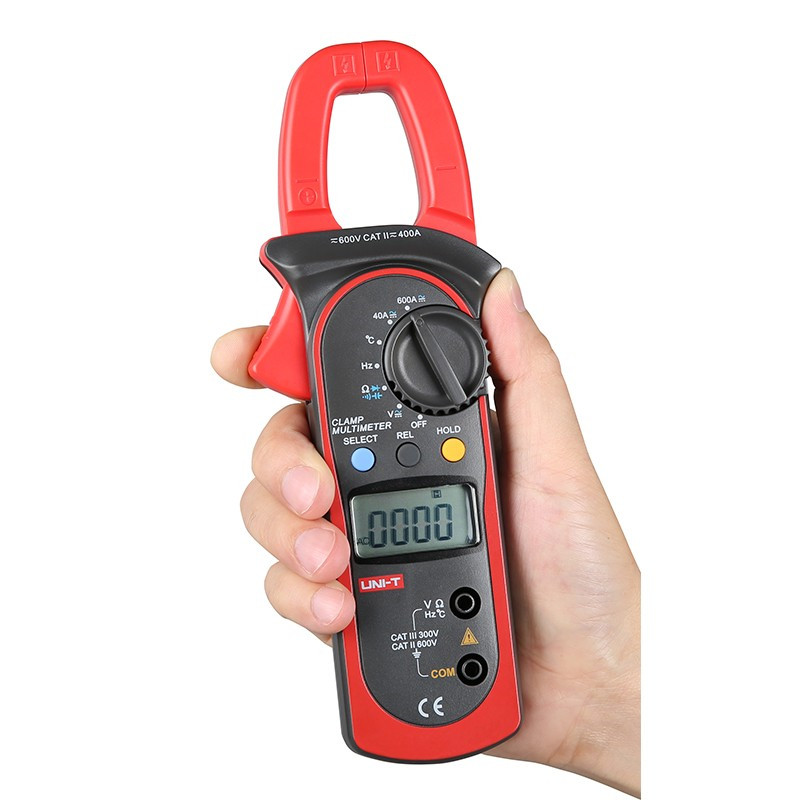 UNI-T UT204A Digital Clamp Multimeters Auto Range Temperature AC DC Current Clamp Meter Professional Unit Ammeter Voltmeter new 3 in 1 digital led car voltmeter thermometer auto car usb charger 12v 24v temperature meter voltmeter