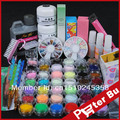Acrylic Powder Liquid Glitter Stripe File 10g Glue Brush Rhinestones Tweezer Clipper Primer French nail art Kit 116set
