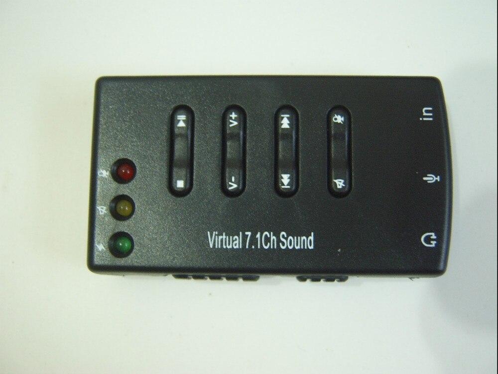 04af1f51b Externo USB 2.0 Virtual 7.1 canais CH 3D conversor adaptador placa de áudio  de som BK