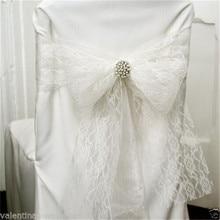 Винтажный кружевной рулон ткани тюль стол бегун стул створки Свадебный декор