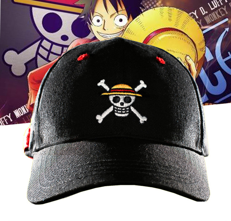 One Piece Pirate Skull Logo Embroidered Topee Snapback Hat Black Baseball  Cap - Memang Store c26d1d6c9254