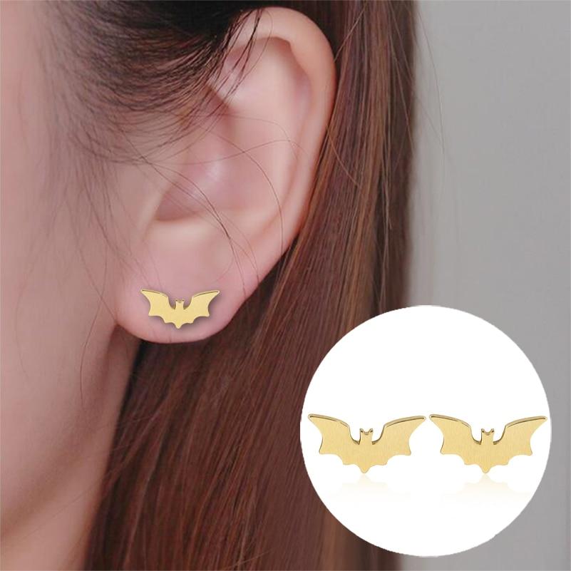 Shuangshuo 2017 Trendy Small Bat Earrings Jewelry Gothic earing for women Vampire Animal stud earrings Spooky Gifts