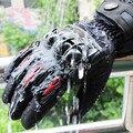 2016 pantalla táctil de invierno cálido guantes de moto de motocross guantes de cuero a prueba de viento impermeable guantes moto luvas motocicleta da