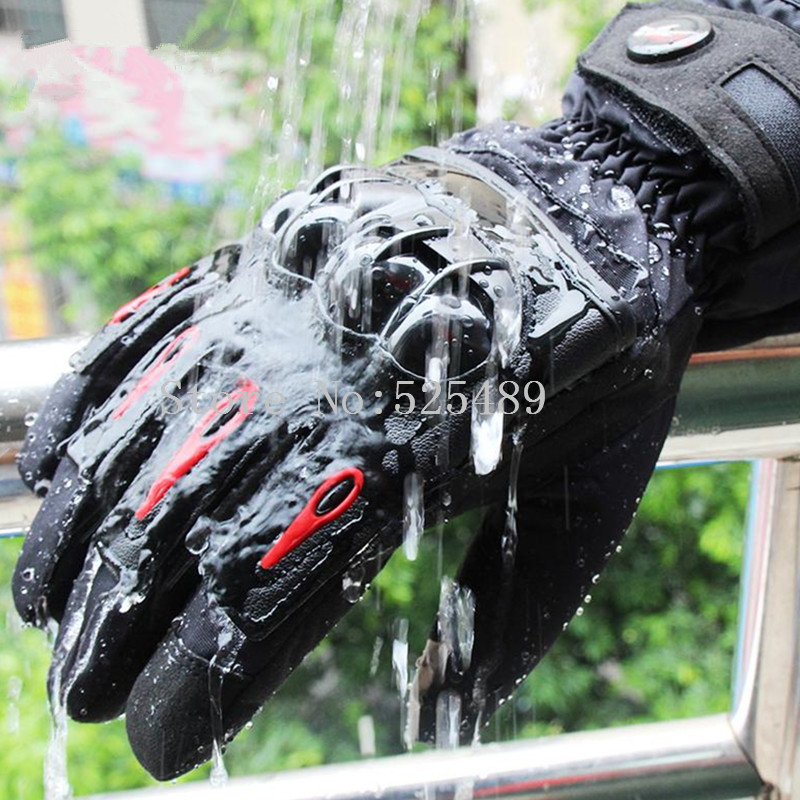 2017 Winter Warm Touch Screen Motorcycle Gloves Leather Waterproof Windproof Outdoor Motocross Racing Gloves guantes moto luvas