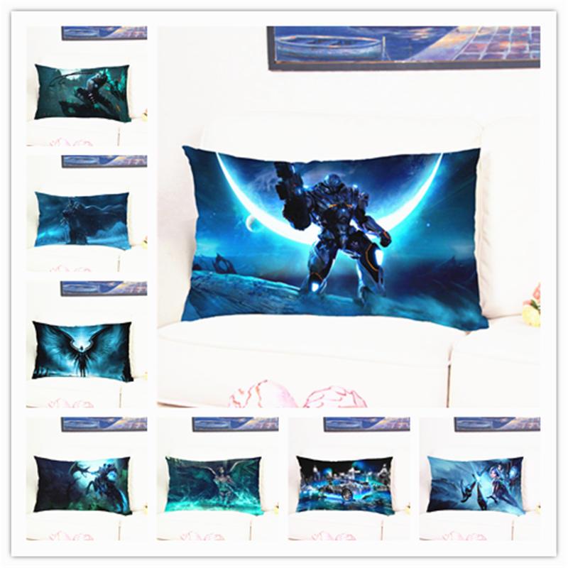 League of Legends Varus Pattern Cushion Cover Multicolor Cotton Plush Print Square Pillow Case for Bed Sofa Chair Decorative