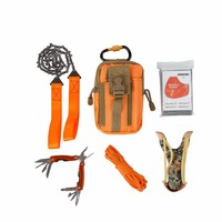 Hohe qualität Outdoor Camping Ausrüstung Klettern Tasche Überleben Kit Paracord 550 Karabiner slingshot Drahtsäge Klappzange