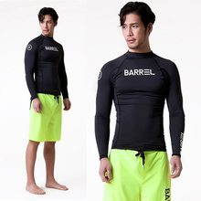 TSMC UV Protect Surfing Rash Guard Men Swimwear Long Sleeve Swimsuit Mens Rashguard Surf Shirt For Swimming Sail drop shipping(China)