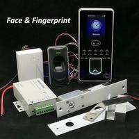 DIY лица доступа Управление системы комплект отпечатков пальцев доступа стеклянная дверь Управление комплект + FR1200 сканер отпечатков пальце