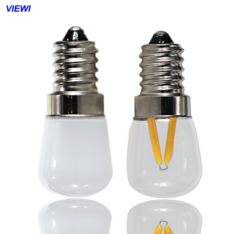Viewi lampadine led e14 E12 B15 2W 12v 110v 220v filament light Glass shell Bulbs refrigerator lights Chandelier lamps led gold deco chandelier bulbs candle light e14 85 265v 5w lamps