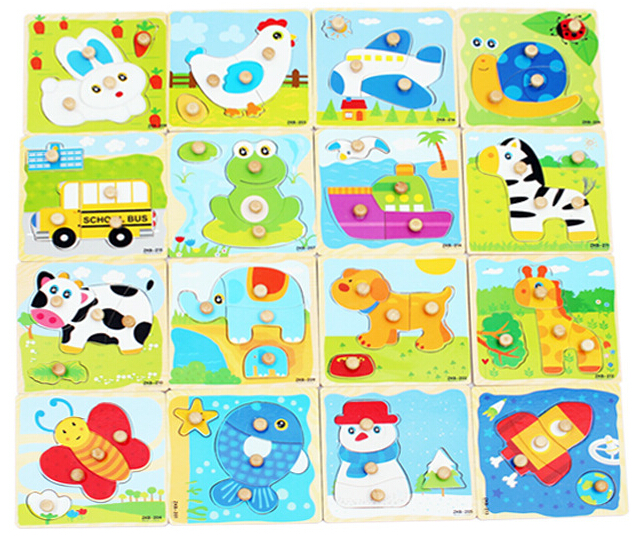 Us 249 Cartoon Animal Baby Jigsaw Board Wood Puzzles 2 5 Years Old Child Wooden Kids Toys Puzzle Educational Learning Toys W102 In Puzzles From