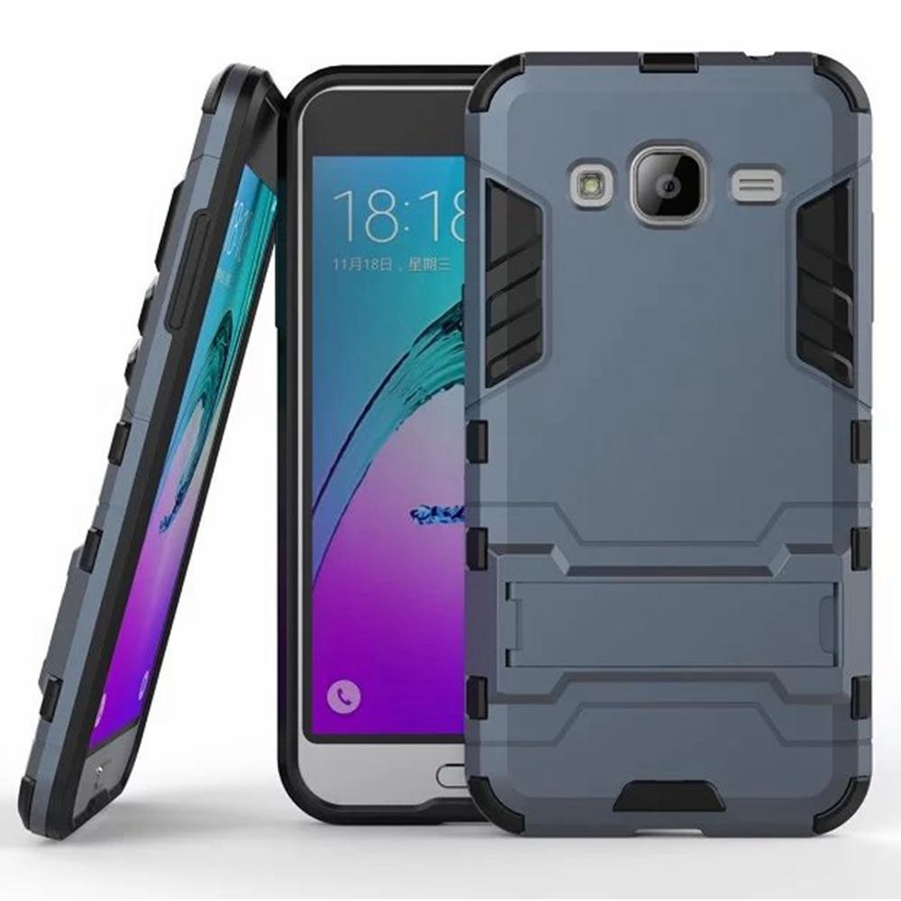 Dual Hybrid Armor Bracket Stand Case For Samsung Galaxy J3 J5 J7 2016 J320F J510 J710