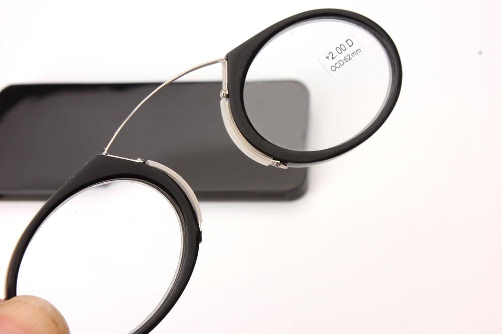 Portabel Klip hidung kacamata presbyopic Dompet Kacamata Baca dengan - Aksesori pakaian - Foto 5