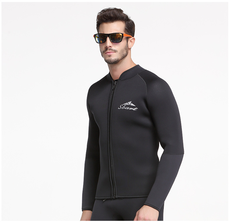 SBART 5MM Neoprene Long Sleeved Jumpsuit For Men Wetsuit Scuba Dive Jacket Wet Suit Top Winter Swim Warm Surf Upstream sbart upf50 806 xuancai