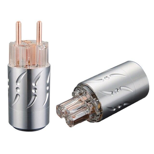 Prise dalimentation ue Viborg VE512 + VF512 99.998% cuivre sans connecteur de coque en alliage daluminium plaqué