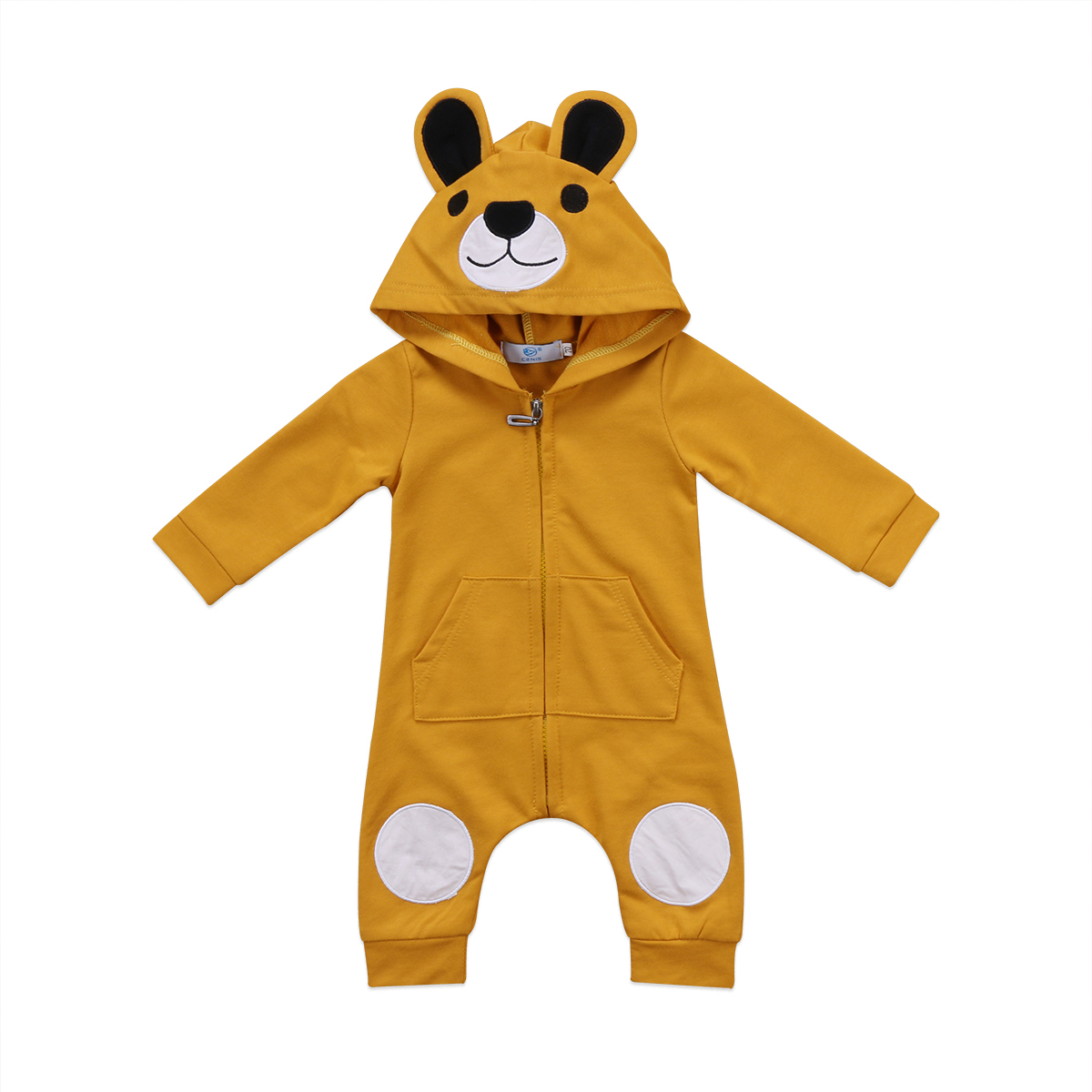 Cute Bear Hooded   Romper   Newborn Infant Baby Boy Girl Kid Hooded Jumpsuit Long Sleeve Cotton Spring Autumn Clothes Outfit