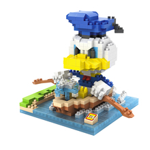 LOZ 9637 Mickey Series Classic Anime Character Donald Duck Education Diamond Bricks  Building Block Compatible with Legoe