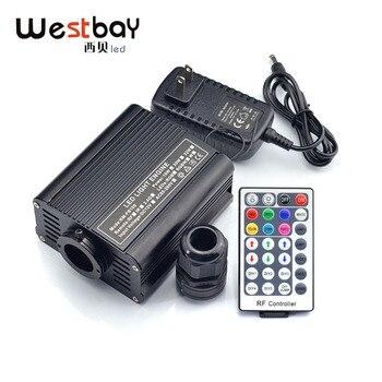 Westbay 16W RGBW Kit de techo de estrella de fibra óptica LED 400 hilos 0,75mm cristal 28key RF remoto LED Kit de luces de fibra óptica