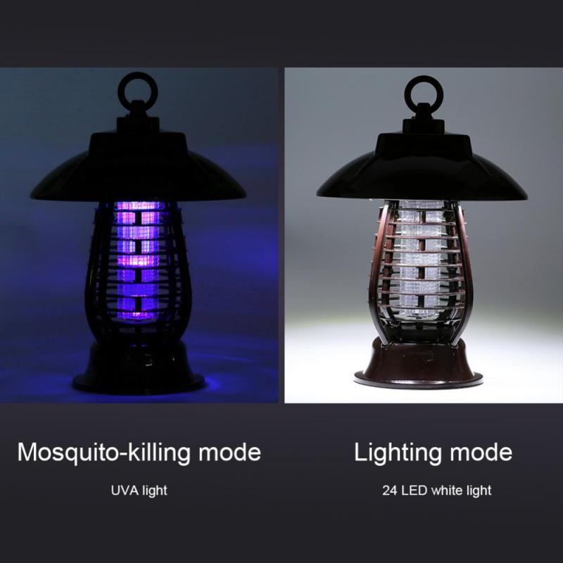 Solar Mosquito Killer Lamp Solar Powered + USB Rechargeable UV Lamp Light Mosquito Buzz Insect Bug Killer Garden Mosquito Lamp