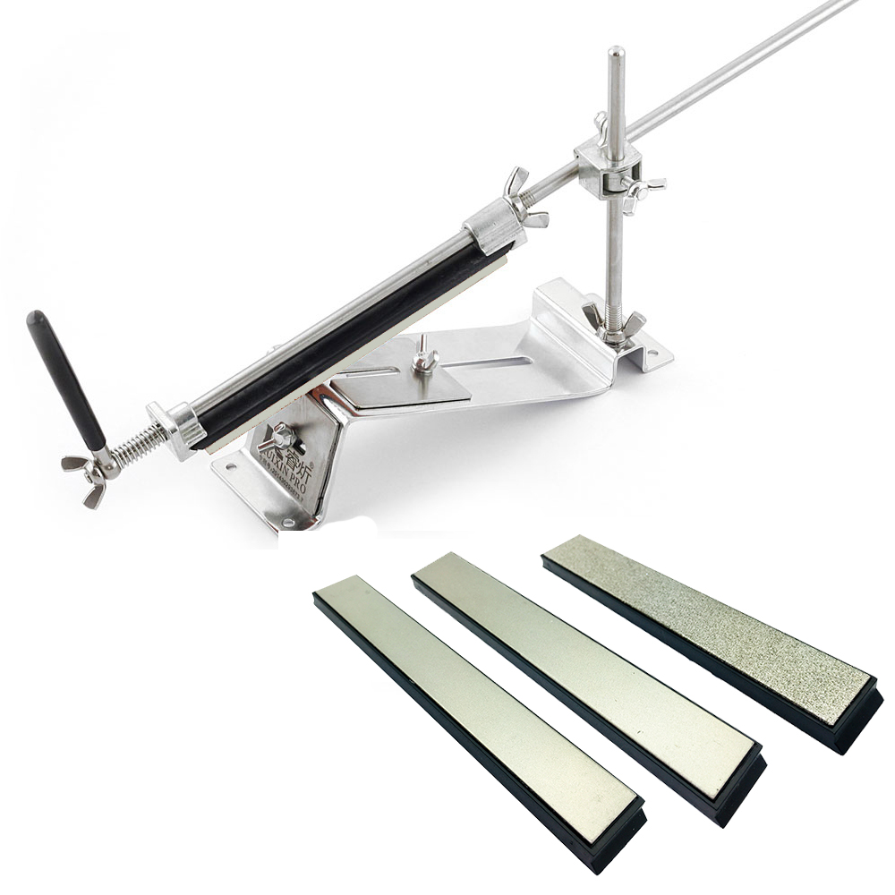 Ruixin Pro Chef couteau Apex système d'affûtage taille-crayon avec 3 diamant pierre à aiguiser 200 800 1500 Grit