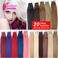 Tape In Human Hair Extensions 7A Straight Virgin Indian Human Hair Tape Extensions 20PCS Adhesive Skin Weft Hair Extensions