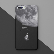 Moon, Outer Space Hard Phone Case Cover For iPhone 6 / 7