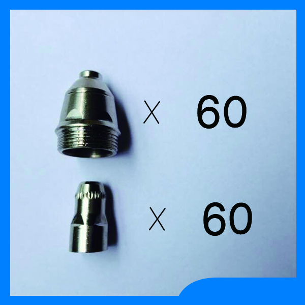 Plasma cutter accesories=120 pcs P80 torch consumables cutting electrode/tips suitable 80A plasma cutting gun p80 panasonic super high cost complete air cutter torches torch head body straigh machine arc starting 12foot