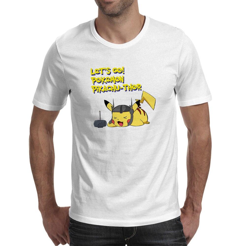 Happy Pikachu Thor Camiseta Novedad Pop Punk Camiseta Estilo Skate - Ropa de hombre