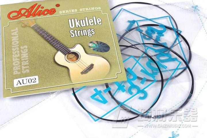 Алиса au02 сопрано Гавайские гитары укулеле строки-A, D, F #, b-черный нейлон-0.022-0.032