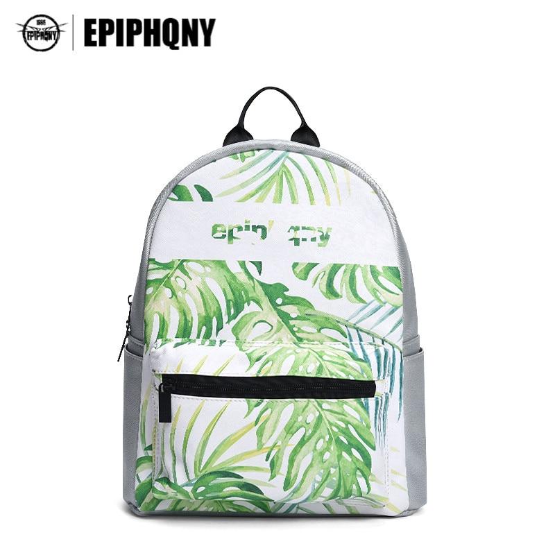 Famous Brand Travel Small Backpack Kvinder Designer Banana Udskrivning Bookbag Skole Bag til Teenage Girls Summer Clear Bagpack