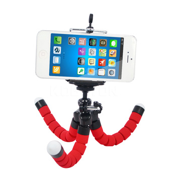 New Flexible Camera Phone Holder Octopus Tripod Bracket Stand Mount Monopod Styling For Phone Camera Accessory Red pocket tripod pro