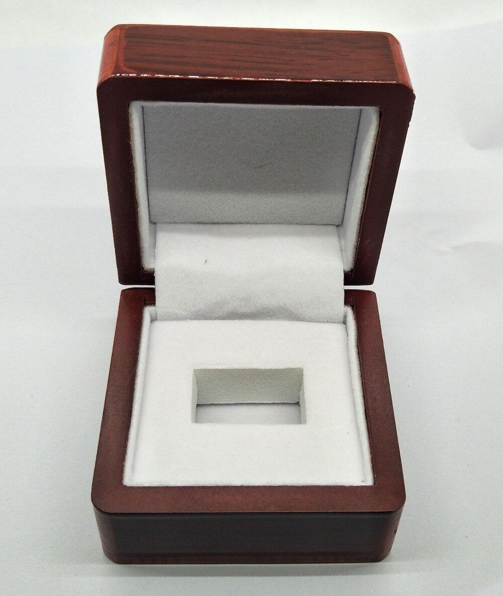 2018 Venta caliente de la caja de diaplay de béisbol de houston anillos grandes caja de exhibición de un agujero-in Envase y exposición de joyería from Joyería y accesorios    1