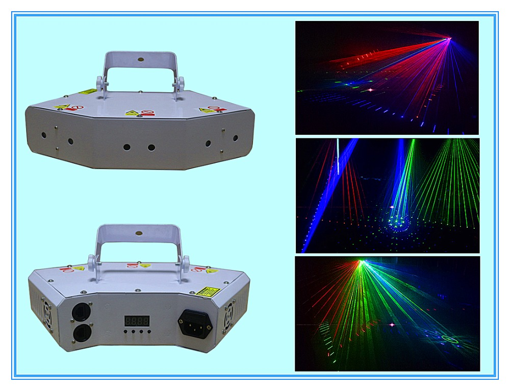 2017 Rasha New Arrival 6 Holes 300MW RGB Full Color Laser Fat Beam Light For DJ Event Party Light With 8 Laser Beam Effects