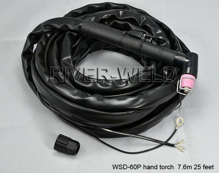 WSD-60P P60 Plasma Cutter Cutting Torch Complete Pilot Arc Start 40-60Amp 25 Foot & 7.6 Meter цена