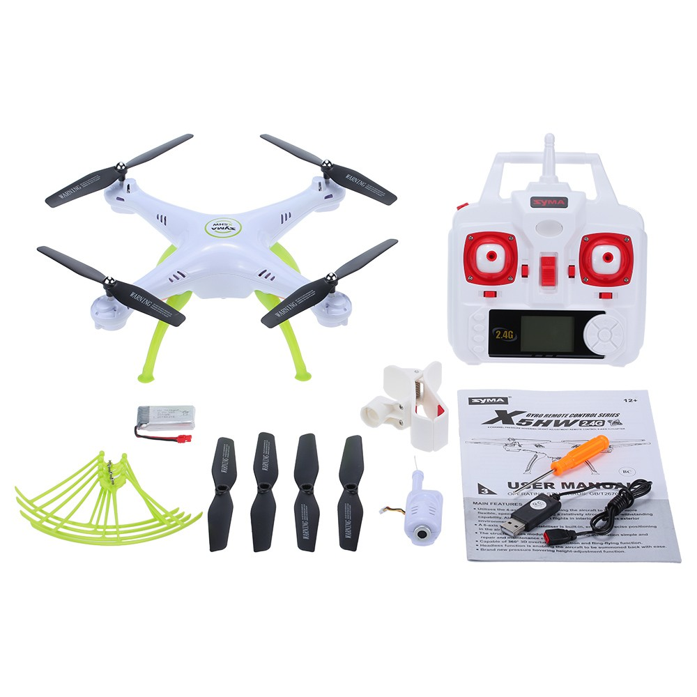 Syma X5HW X5HW-1 WIFI FPV RC Drone With HD Camera Altitude Hold Headless Mode 2.4G 4CH 6Axis RC Quadcopter RTF with 6pcs battery original syma x8sw wifi fpv hd camera drone 2 4g 4ch 6 axis rc quadcopter with barometer set height mode rtf toys